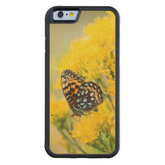 Bull Moose jousting in field with Cottonwood Trees Carved Maple iPhone 6 Bumper Case