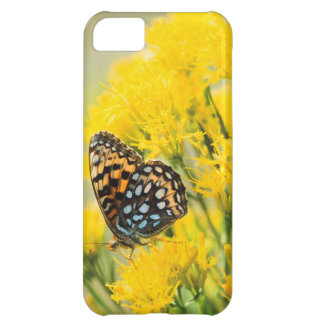 Bull Moose jousting in field with Cottonwood Trees Cover For iPhone 5C