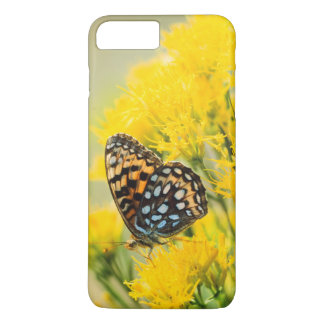 Bull Moose jousting in field with Cottonwood Trees iPhone 7 Plus Case