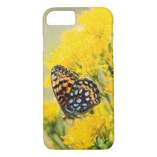 Bull Moose jousting in field with Cottonwood Trees iPhone 8/7 Case