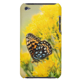 Bull Moose jousting in field with Cottonwood Trees iPod Touch Case