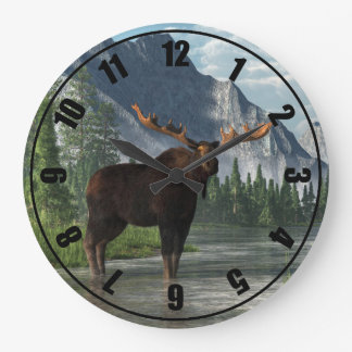 Bull Moose Large Clock