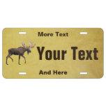 Bull Moose License Plate