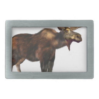 Bull Moose Looking Left Belt Buckle