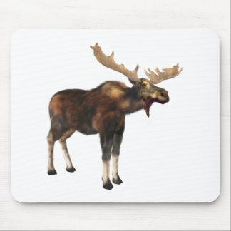 Bull Moose Looking Left Mouse Pad