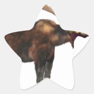 Bull Moose Looking Left Star Sticker