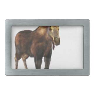Bull Moose Looking to the Front Rectangular Belt Buckle