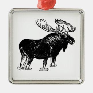 Bull Moose Metal Ornament
