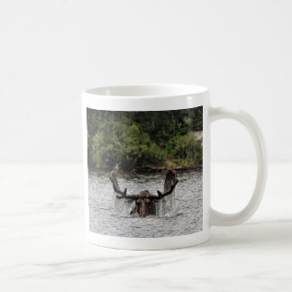 Bull Moose Classic White Coffee Mug