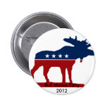 Bull Moose Party 2012 Pinback Button