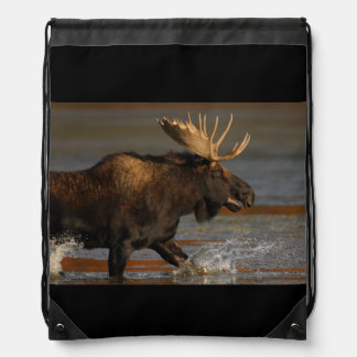 Bull Moose Drawstring Bags
