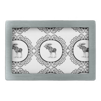 Bull Moose rings fun Rectangular Belt Buckle