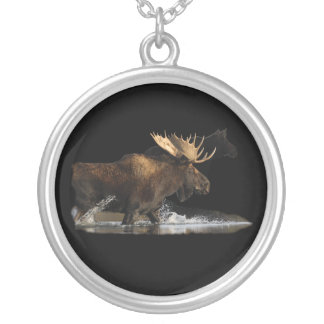 Bull Moose Silver Plated Necklace