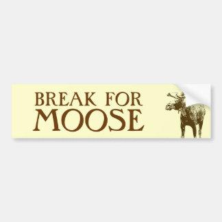 Bull Moose Sketch Bumper Sticker