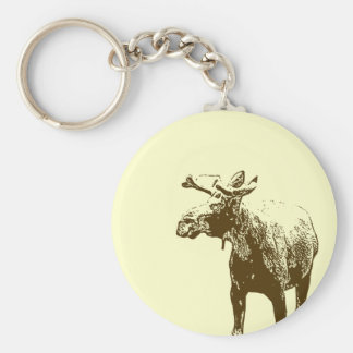Bull Moose Sketch Keychains
