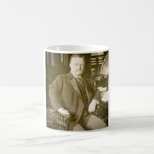Bull Moose Teddy Roosevelt Vintage Classic White Coffee Mug