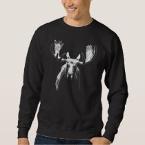Bull moose white sweatshirt