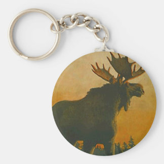 Bull Moose Wildlife Keychains Swamp Donkey Wild