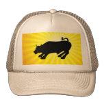 Bull negra de carga de Wall Street Gorros