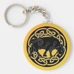 Bull of Prosperity - Celtic Knotwork Keychain