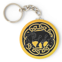Bull of Prosperity - Celtic Knotwork Keychain