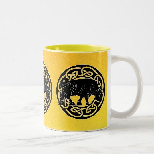 Bull of Prosperity - Celtic Knotwork Mug