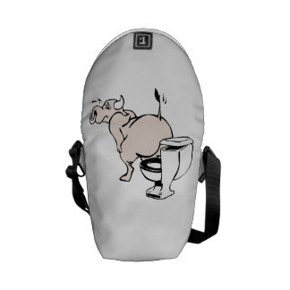 Bull On Toilet Courier Bags
