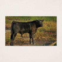 Bull or Cattle Farm Standard Business Card