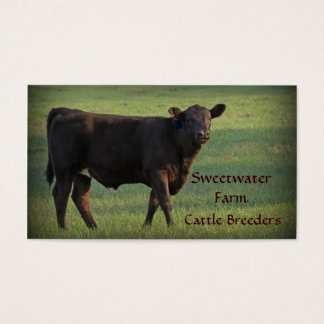 Bull or Cattle Farm Standard Business Card 2