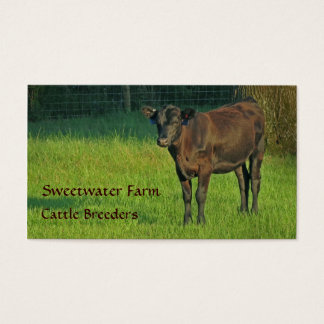 Bull or Cattle Farm Standard Business Card 3