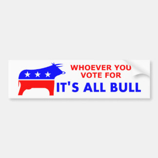 Bull Party Bumper Sticker