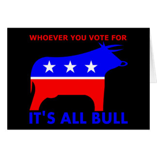 Bull Party Card