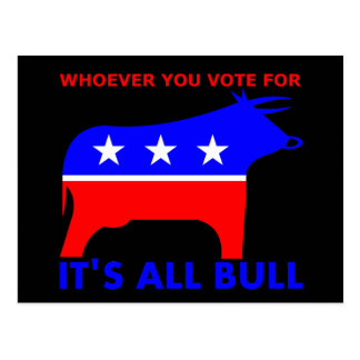 Bull Party Postcard