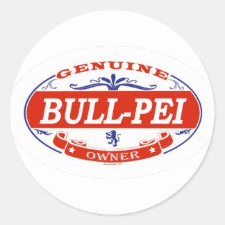 Bull-Pei  Classic Round Sticker