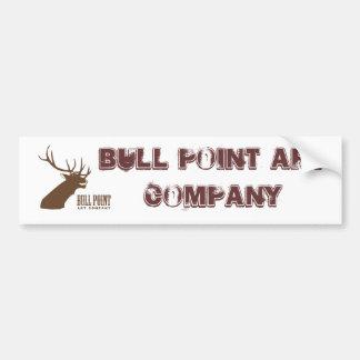 Bull Point Art Co Bumper Sticker