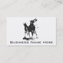 Bull Pop Art Business Card