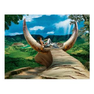 Bull - postcard