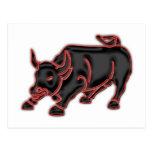 Bull Postcard