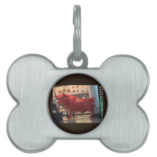 Bull Power Red Furious Animal Fighting Fit Friend Pet ID Tag