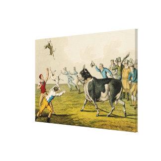"""""""Bull que hostiga"""", pub. por Thomas McLean, 1820,  Lona Estirada Galerías"""