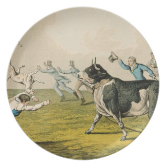 """""""Bull que hostiga"""", pub. por Thomas McLean, 1820,  Platos"""