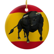 BULL - REALISTIC CERAMIC ORNAMENT