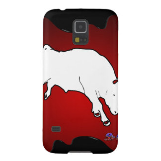 BULL RED BACKGROUND PRODUCTS CASES FOR GALAXY S5