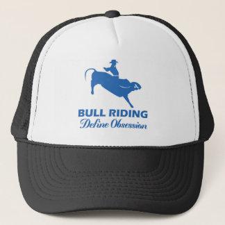 bull ride design trucker hat
