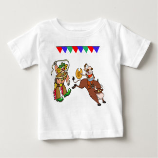 Bull Rider and Rodeo Clown Baby T-Shirt