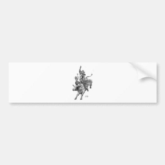 Bull Rider Bumper Sticker