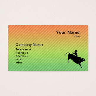 Bull Rider Business Card