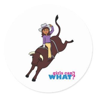 Bull Rider Dark Classic Round Sticker