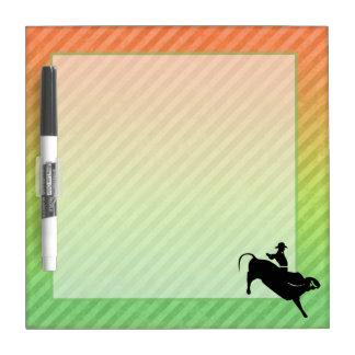 Bull Rider Dry Erase Board