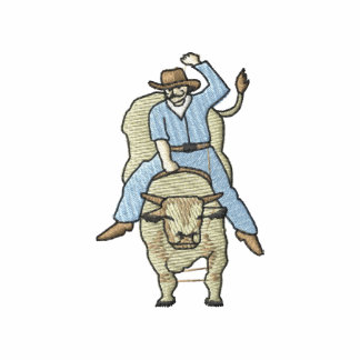 Bull Rider Embroidered Polo Shirt
